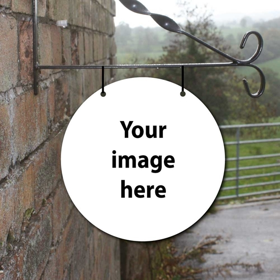 Picture of Round Hanging Sign, add your own image/photo