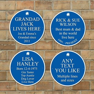 Picture of Round Blue Plaque Sign