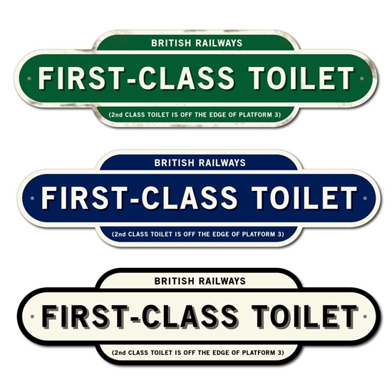 Picture of Vintage Style FIRST CLASS TOILET Sign