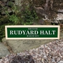 Picture of Personalised Station Sign with Oak Frame
