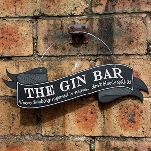 Picture of Funny GIN BAR Sign