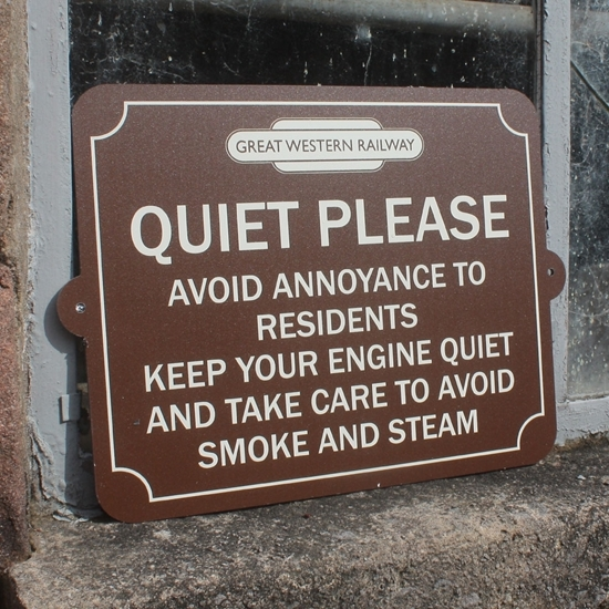Picture of QUIET PLEASE RAILWAY SIGN