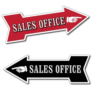 Picture of SALES OFFICE Arrow Sign