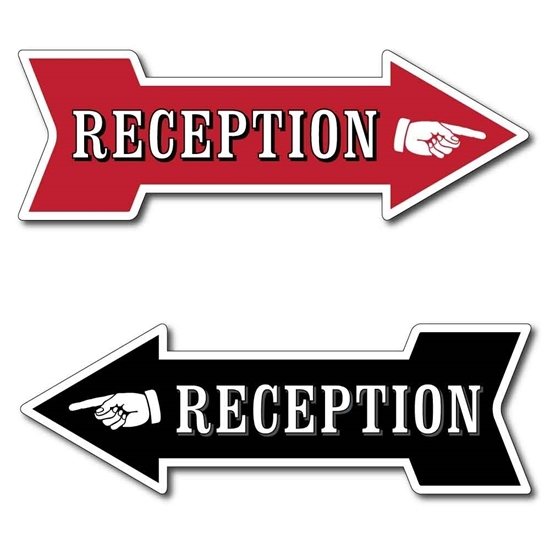 Picture of RECEPTION Arrow Sign