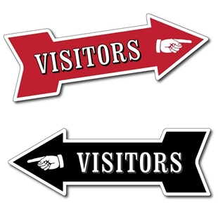 Picture of VISITORS Arrow Sign