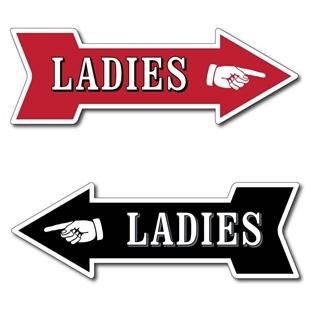 Picture of LADIES TOILET Arrow Plaque
