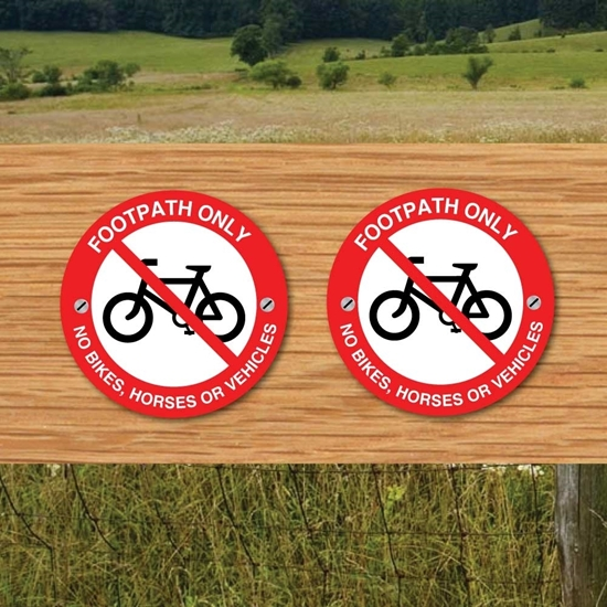 Picture of No Bikes Footpath Only Signs - Pack of 2