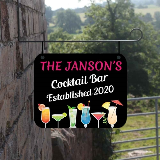 Picture of Hanging Cocktail Bar Sign
