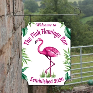 Picture of Pink Flamingo Hanging Sign