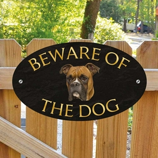 Picture of Boxer Beware of The Dog Sign