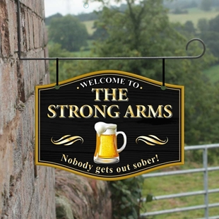 Picture of Personalised Home Bar Hanging  Pub Sign with pint logo