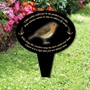 Picture of Memorial oval grave sign, Little Robin Garden Plaque, In Loving Memory Garden