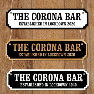 Picture of Corona Bar Road Sign