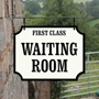 Picture of Hanging Waiting Room Station Sign