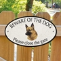 Picture of German Shepherd Beware of The Dog/Please Close The Gate Sign