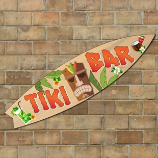 Picture of Personalised Tiki Bar Surf Board - Horizontal