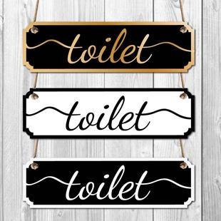 Picture of Toilet Door Vintage Road Sign