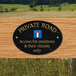 Picture of Private Road Oval Sign