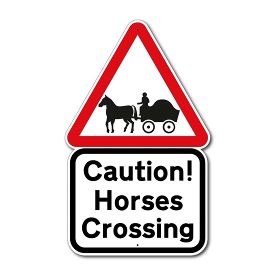 Picture of Horse Drawn Vehicle Sign