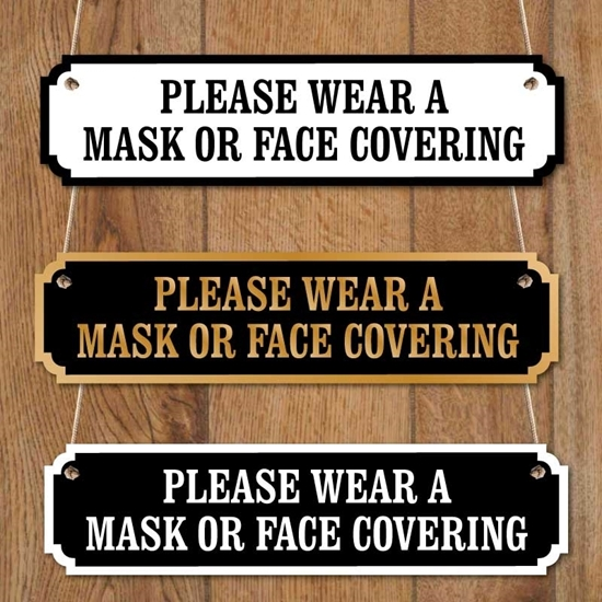Picture of Wear A Face Mask Road Sign