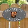 Picture of Red Staffordshire Bull Terrier Beware of The Dog Sign