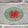 Picture of Welsh Dragon House Sign Plaque
