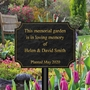 Picture of Garden memorial plaque on stake