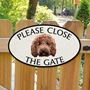 Picture of Please Close The Gate Red Cockapoo Sign