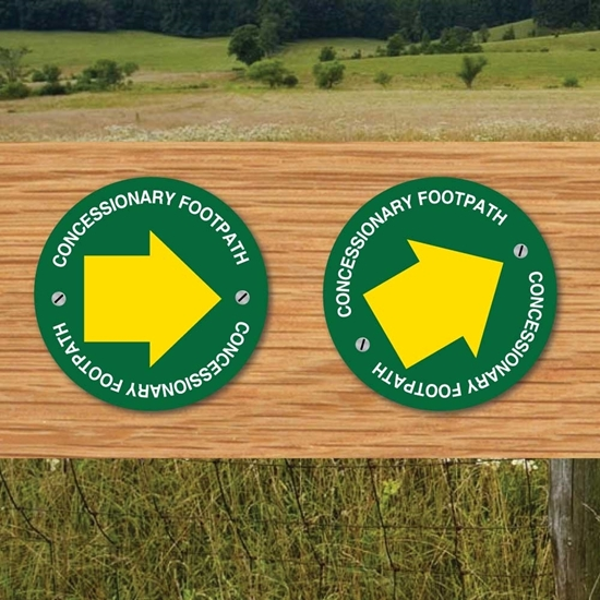 Picture of Concessionary  Footpath Way Marker Sign
