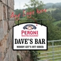 Picture of Add any logo hanging man cave sign