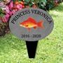 Picture of Personalised GOLD FISH memorial plaque