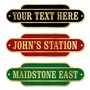 Picture of Acrylic Railway Totem Station Sign - Brass Effect