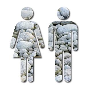 Picture of Pebble Design Man & Woman Toilet Door Symbols