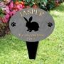 Picture of Personalised Rabbit garden memorial plaque