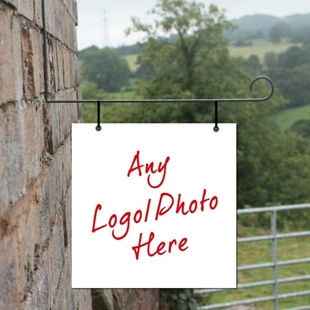 Picture of Square Hanging Sign, add your own image/photo
