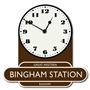 Picture of Personalised Railway Totem Station Clock