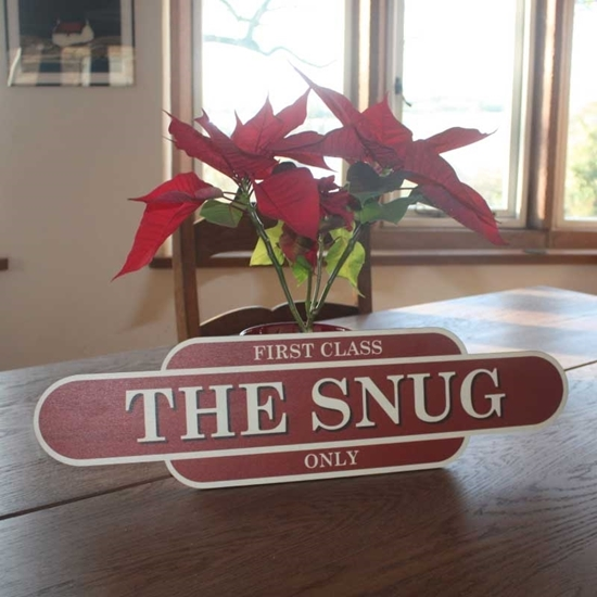 Picture of Wooden Vintage Style THE SNUG Sign