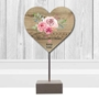 Picture of Personalised Wooden Heart Sculpture