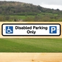 Picture of Disabled Parking Only Kerb Sign