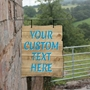 Picture of Driftwood Effect Custom Hanging Sign