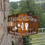 Picture of Personalised Barrel Home Bar Hanging  Pub Sign