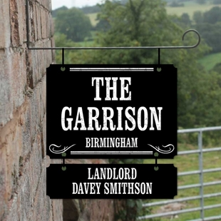 Picture of Personalised The Garrison, Peaky Blinder Hanging Bar Sign