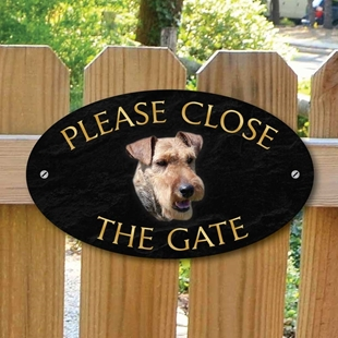 Picture of Please Close The Gate Sign, WELSH TERRIER