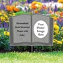 Picture of Garden book memorial shaped plaque on stake
