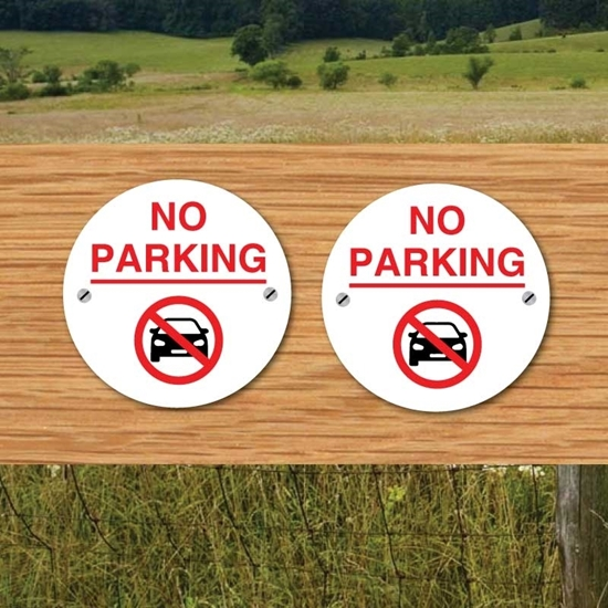 Picture of No parking small round signs