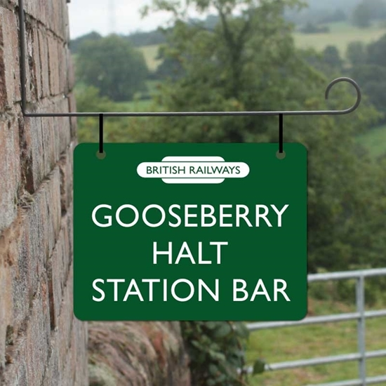 Picture of Railway Station Hanging Information Sign