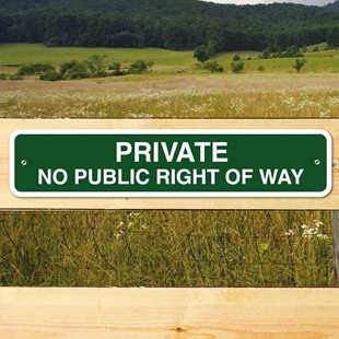 Picture of No Public Right Of Way Gate Sign