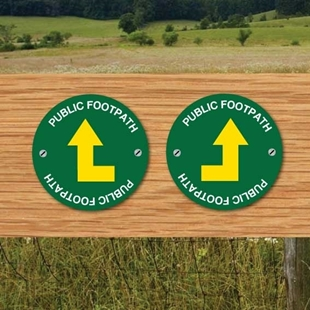 Picture of Bent Arrow Public Footpach - Way Marker -Pack of 2