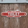 Picture of Vintage Style station TOILET Sign