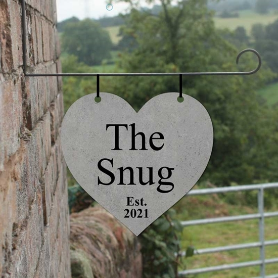 Picture of Heart shaped composite hanging sign